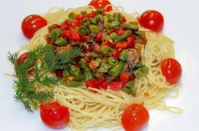 Спагетти вегитарианские