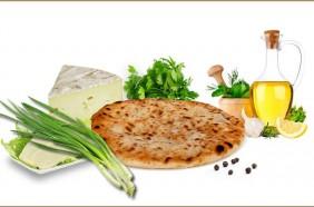 Осетинский пирог с сыром и луком